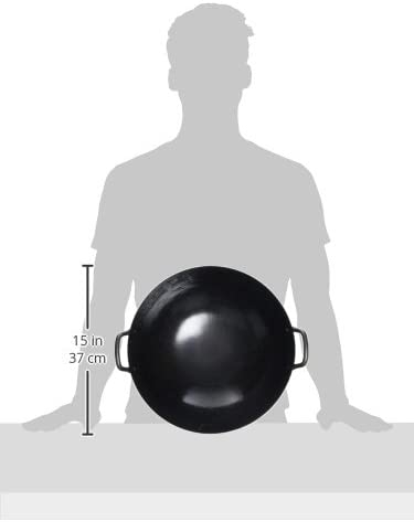 山田工業所(ヤマダコウギョウショ) 鉄 打出 中華両手鍋 30cm(板厚1.2mm) 0201300の商品画像2
