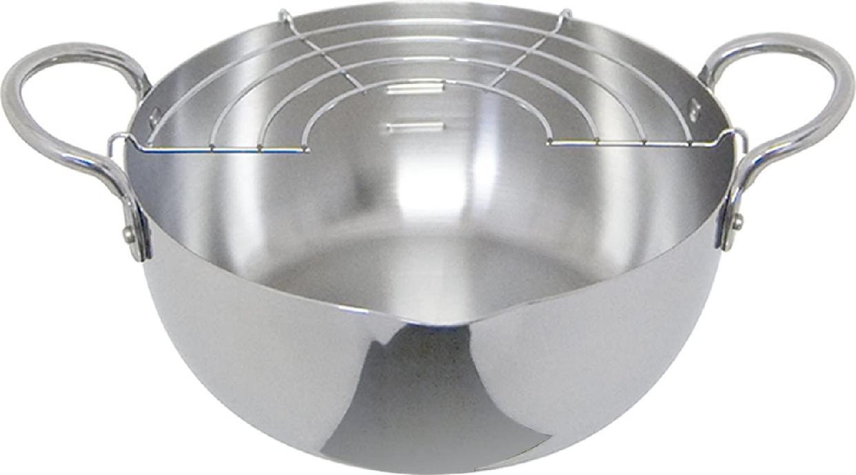 ウルシヤマ金属(ウルシヤマキンゾク)ステンレス 揚げ鍋 20cm シルバーの商品画像