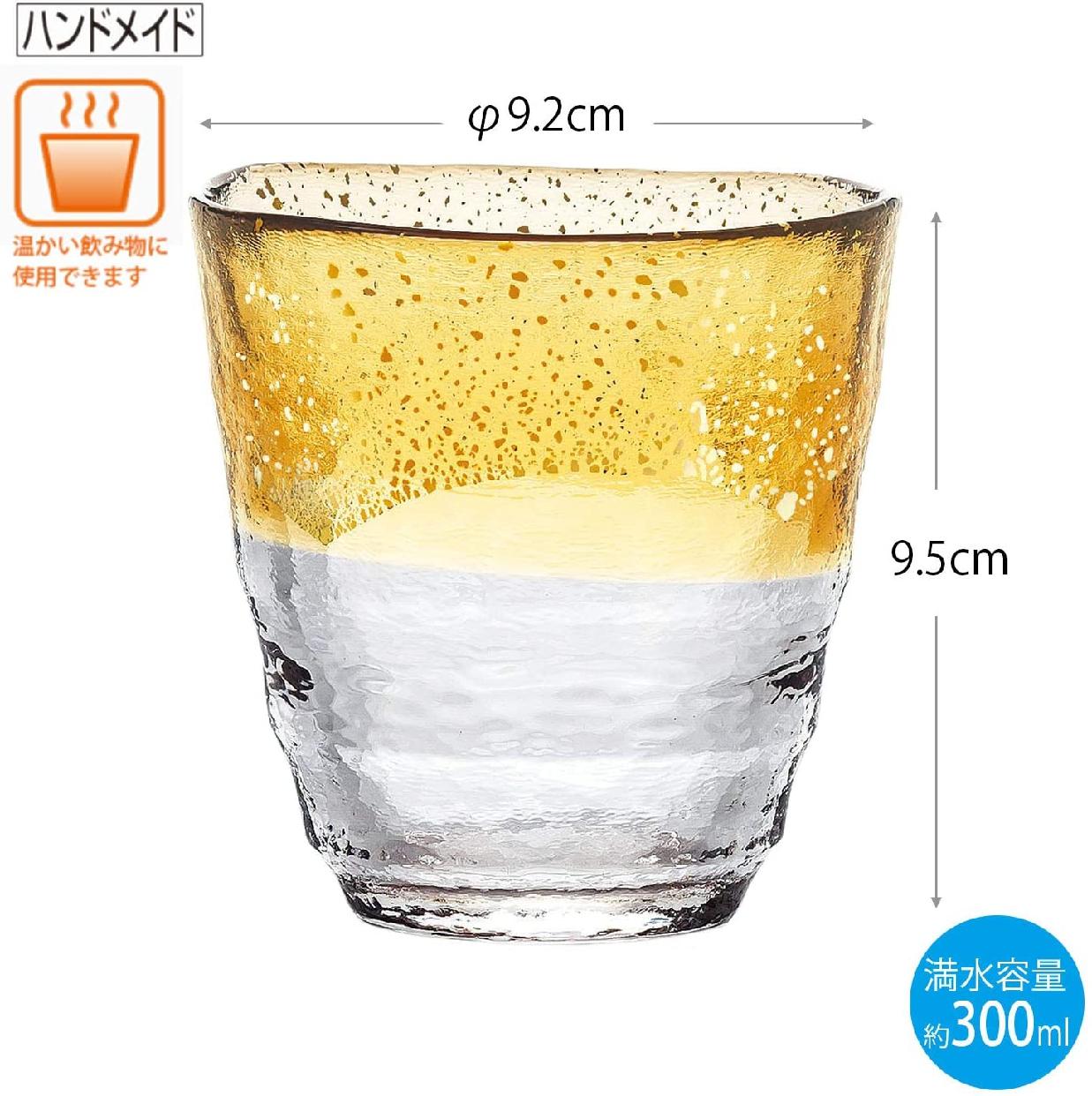 東洋佐々木ガラス(とうようささきがらす)お湯わり焼酎ぐらす(琥珀・金箔) 42130TS-G-WGABの商品画像3