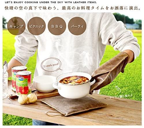amabro(アマブロ) LEATHER GLOVE Brownの商品画像3