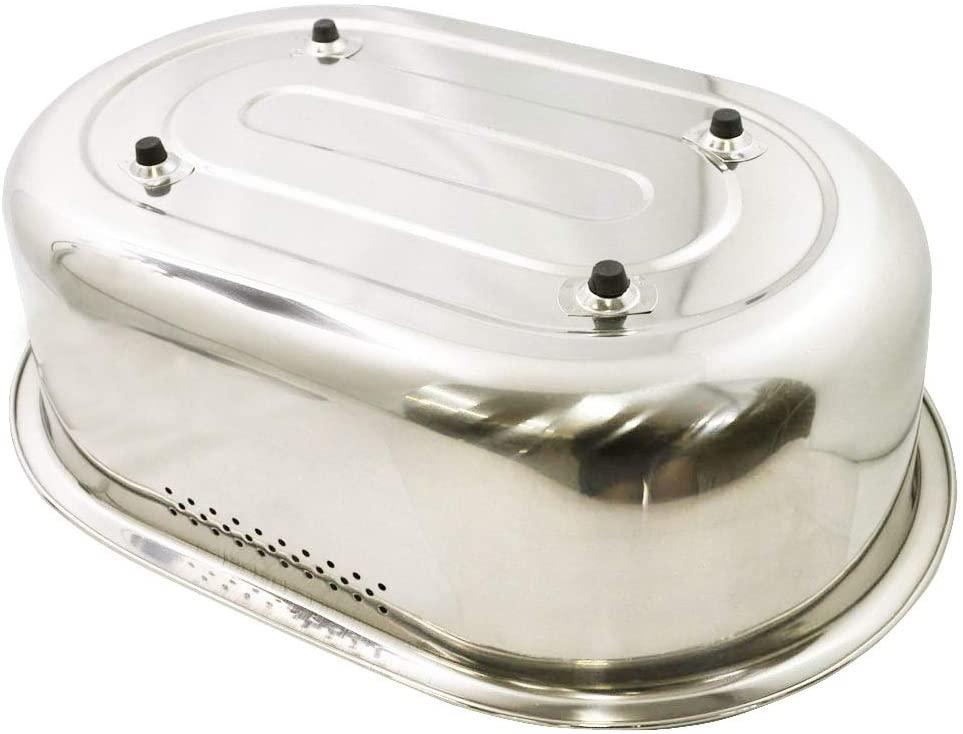 パール金属(PEARL) 洗い桶 小判型 脚高ゴム付 DZ1140 ステンレスの商品画像4
