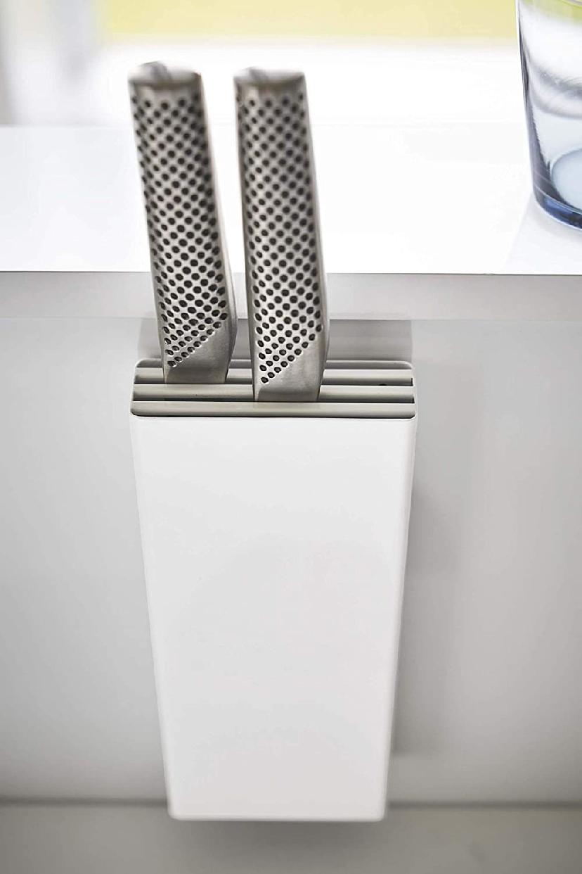 山崎実業(Yamazaki) マグネット包丁スタンド タワー ホワイト 5148の商品画像5