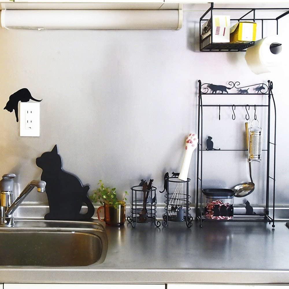 Abeille(あべいゆ)バナナスタンド ネコ ブラック AAIS-855の商品画像3