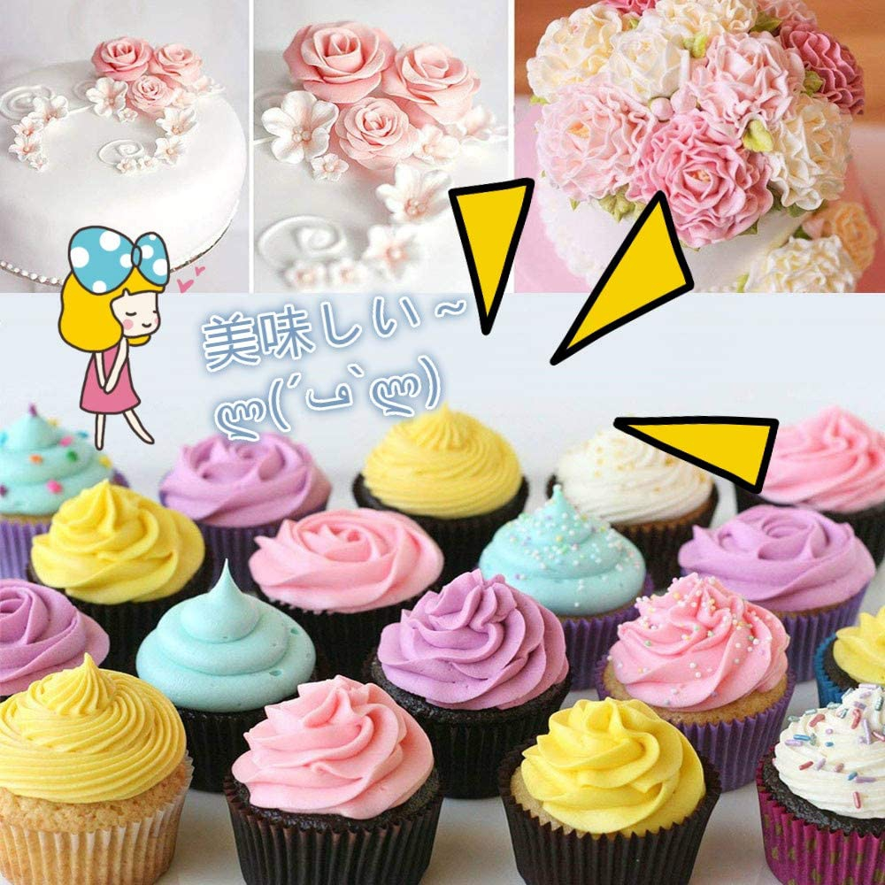 Joyoldelf(ジョイオールデルフ) 絞り口金 花型 ケーキ 24個セット 2絞り袋 キャップ ケース付 ブルーの商品画像7