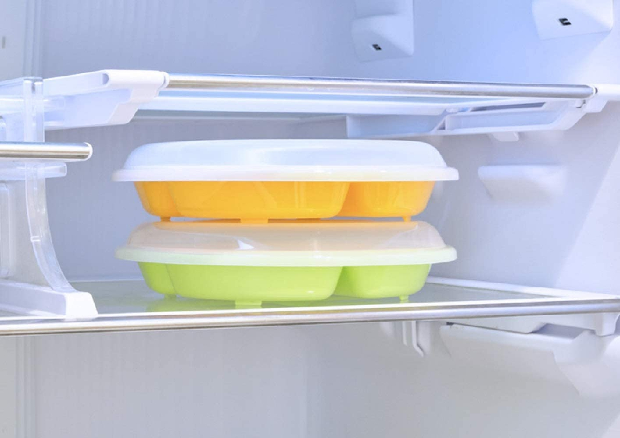 楽弁(Rakuben) フタ付ランチプレート(丸)オレンジの商品画像7