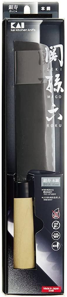 関孫六 銀寿本鋼 和包丁 菜切165mm西型 AK5210の商品画像5