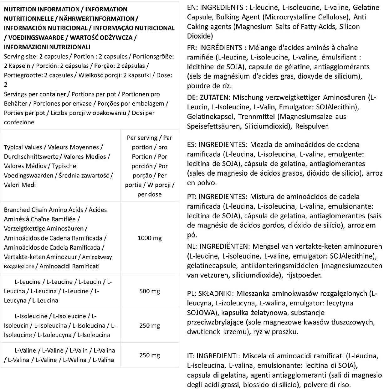 Optimum Nutrition(オプティマム ニュートリション) BCAA 1000 CAPSの商品画像9