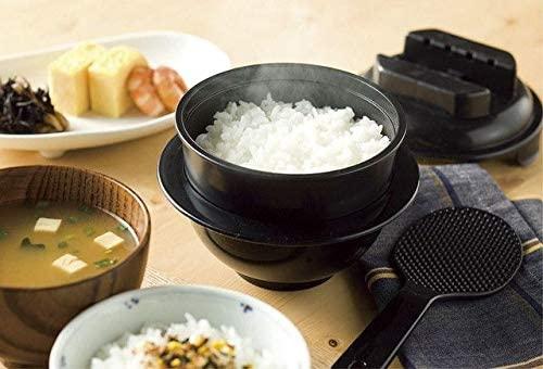 カクセー 電子レンジ専用炊飯器 紀州備長炭配合 ちびくろちゃん 1合炊きプラス CK-002の商品画像2