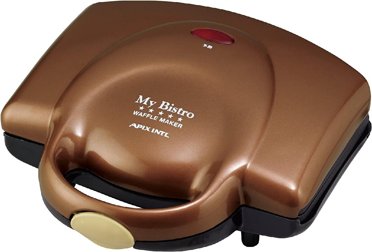 My Bistro(マイビストロ) ワッフルメーカー ブラウン ASW-284-BRの商品画像