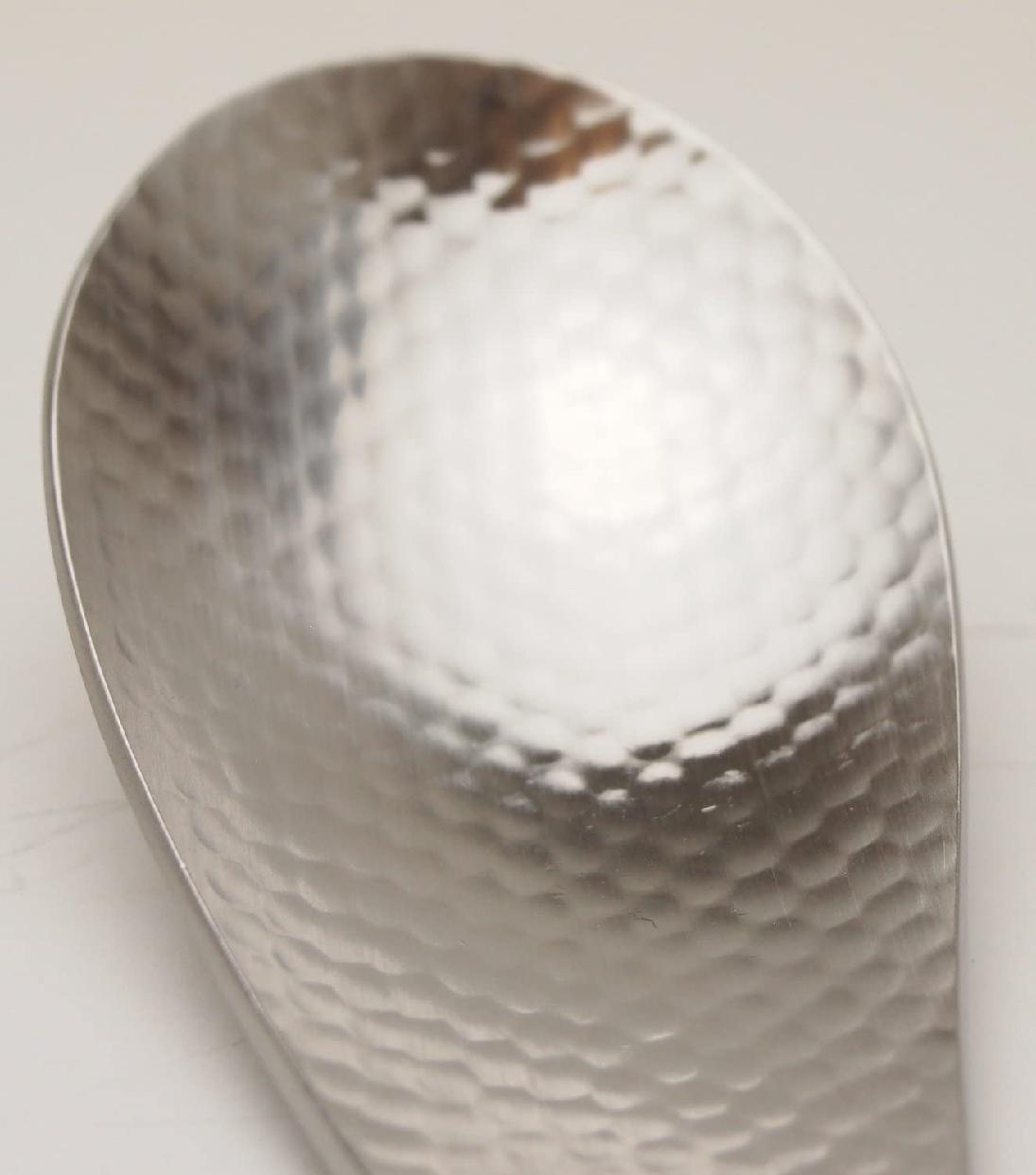 パール金属(PEARL) 和の膳 18-8ステンレス製 槌目 レンゲスプーン B-5289 シルバーの商品画像4