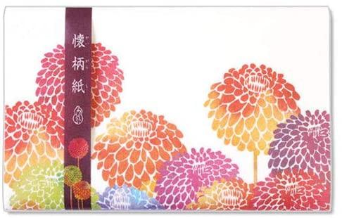 和詩倶楽部(ワシクラブ) 懐柄紙 手鞠菊  30枚  KG-059の商品画像