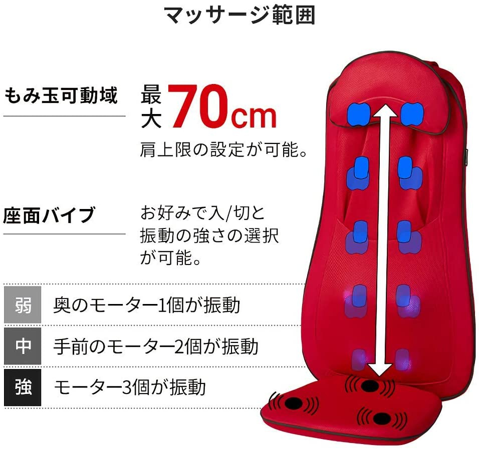 DOCTORAIR(ドクターエアー) 3Dマッサージシート プレミアム MS-002の商品画像7