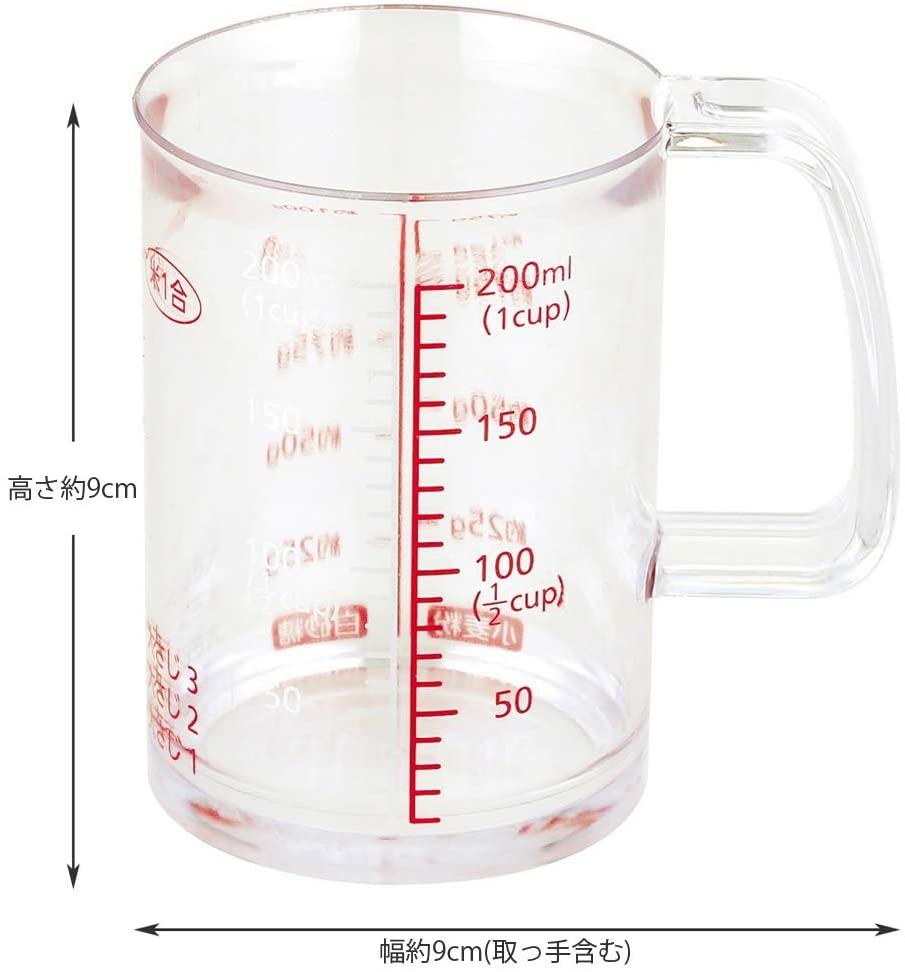 貝印(KAI) どこでも注げる耐熱計量カップ 200ml DH7120の商品画像4