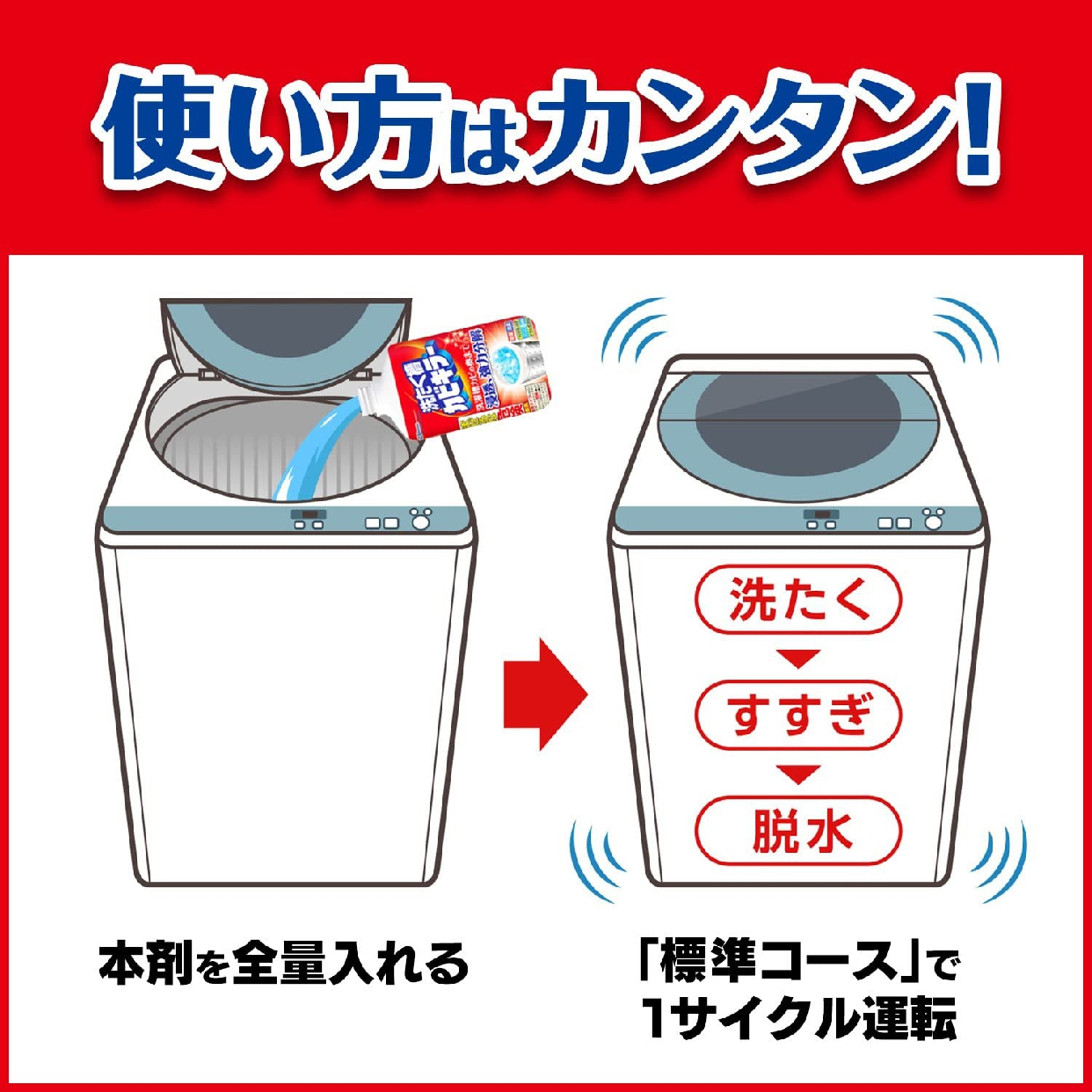 カビキラー 洗たく槽カビキラー (塩素系)の商品画像6