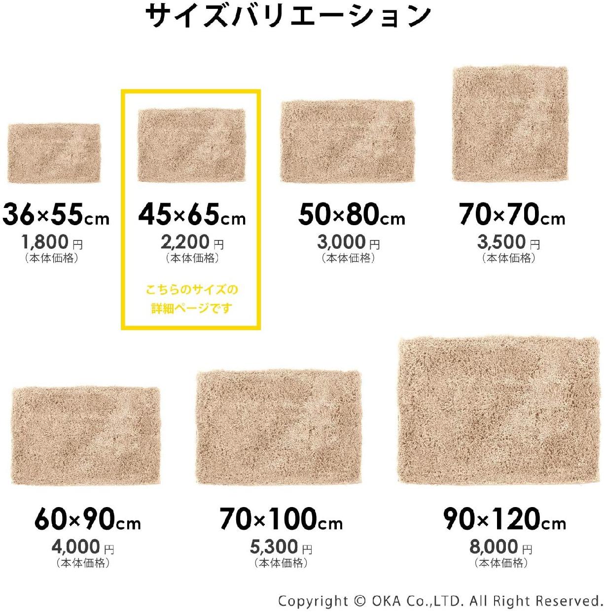 乾度良好(かんどりょうこう)Dナチュレバスマットの商品画像14