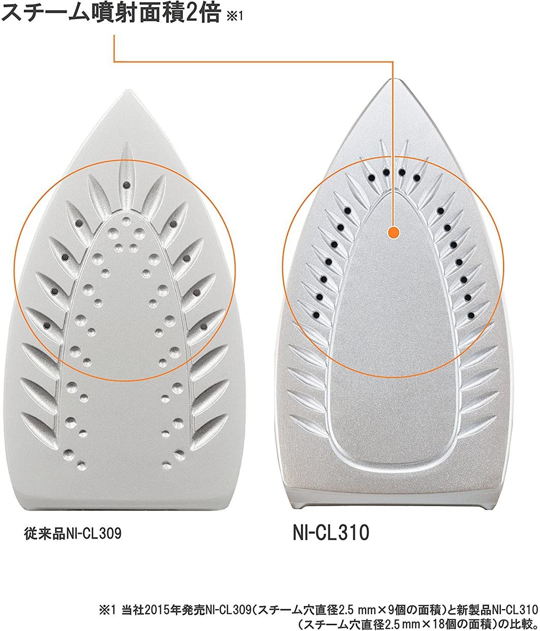 Panasonic(パナソニック) コードレススチームアイロン NI-CL310の商品画像5