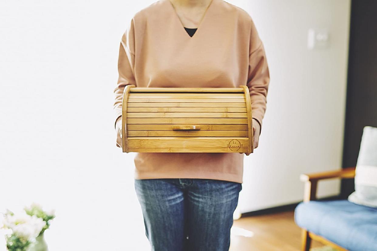 La Cuisine(ラ クイジーヌ) 竹製ブレッドケース ナチュラル EF-LC05の商品画像5