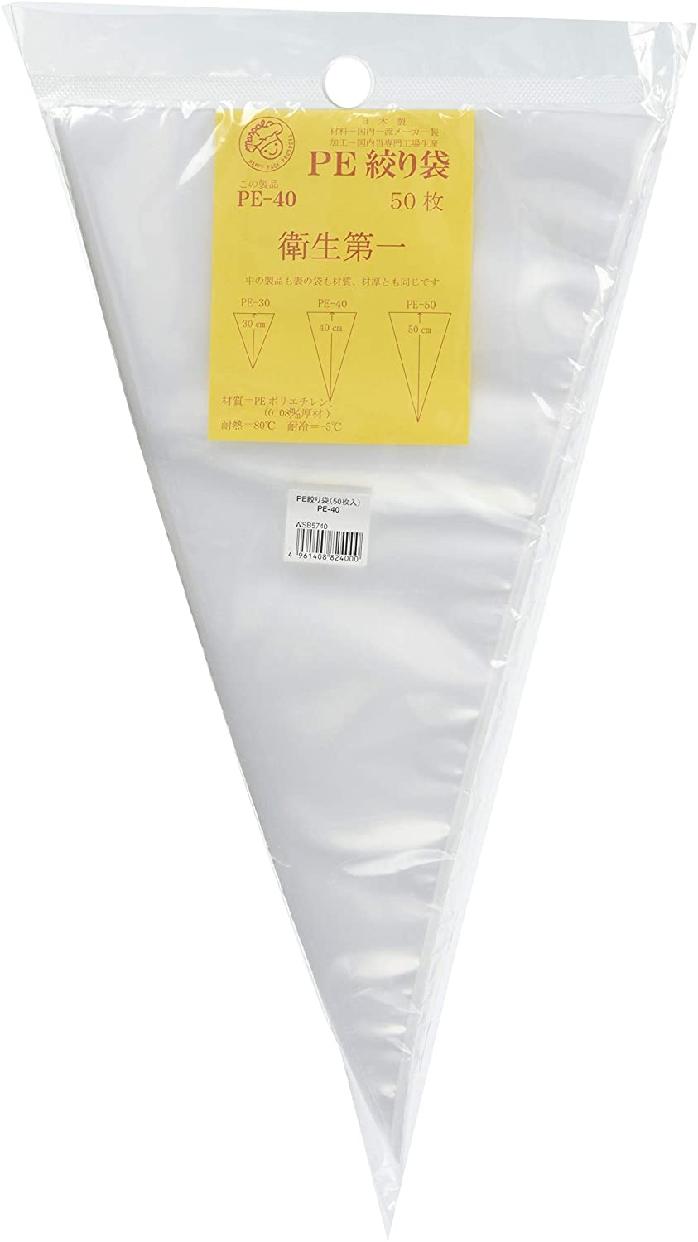 田中糧機 絞り袋 PE-40 WSB5740 クリアの商品画像