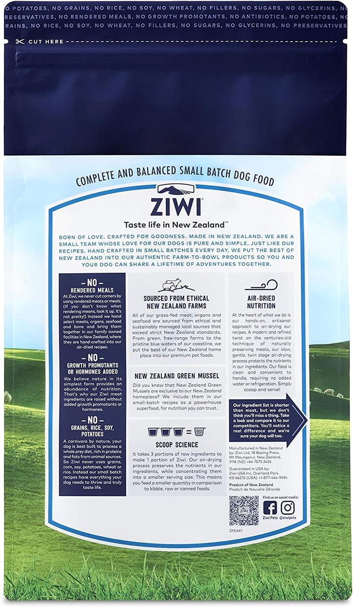 Ziwi Peak(ジウィピーク) エアドライ・ドッグフード ラムの商品画像2