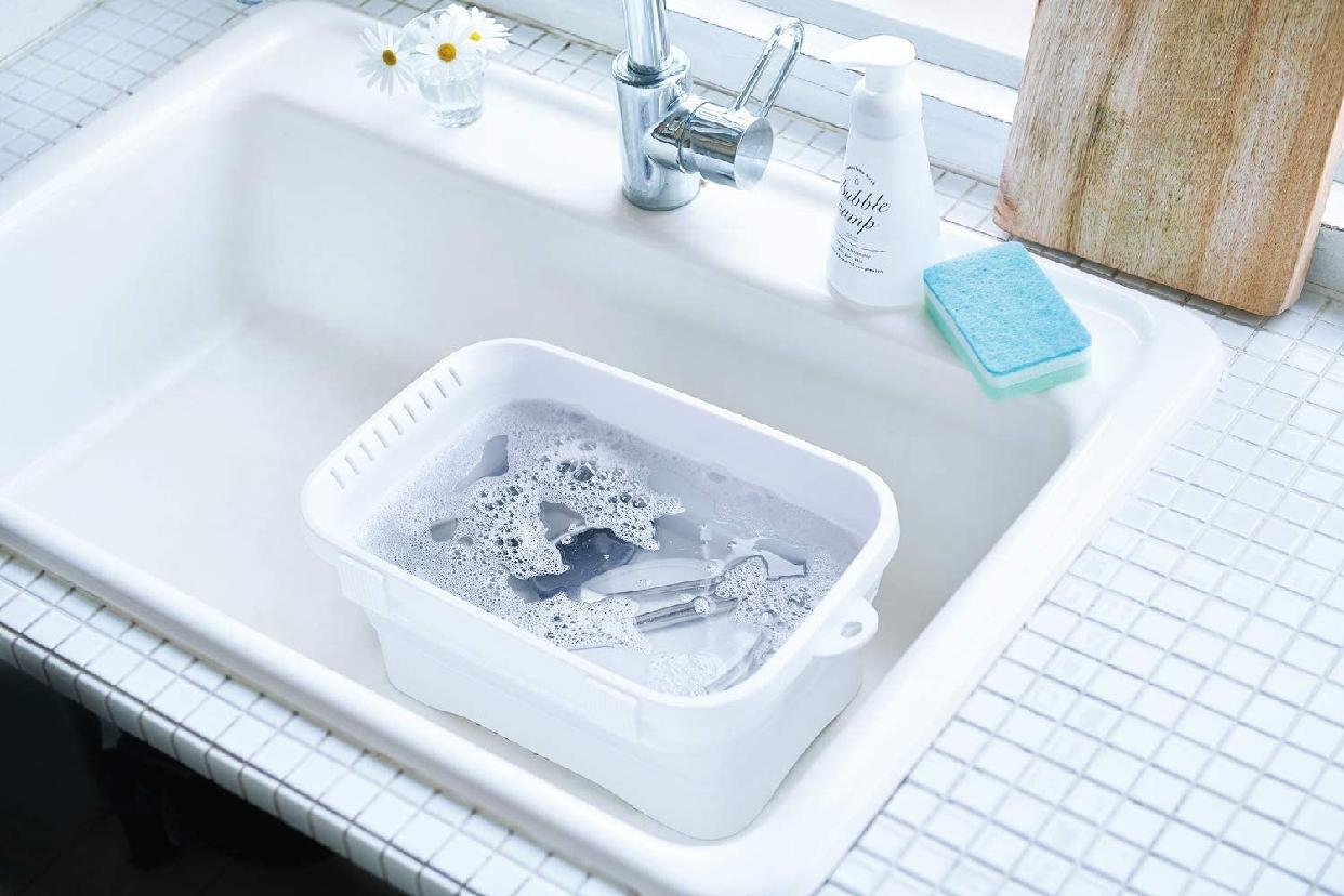 伊勢藤 折りたたみ洗い桶 キッチンソフトタブ 6.6L I-590の商品画像11