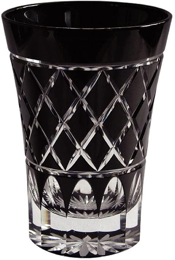 江戸くろ切子(エドクロキリコ) 江戸矢来紋 ブラック TG-10-22-1Kの商品画像