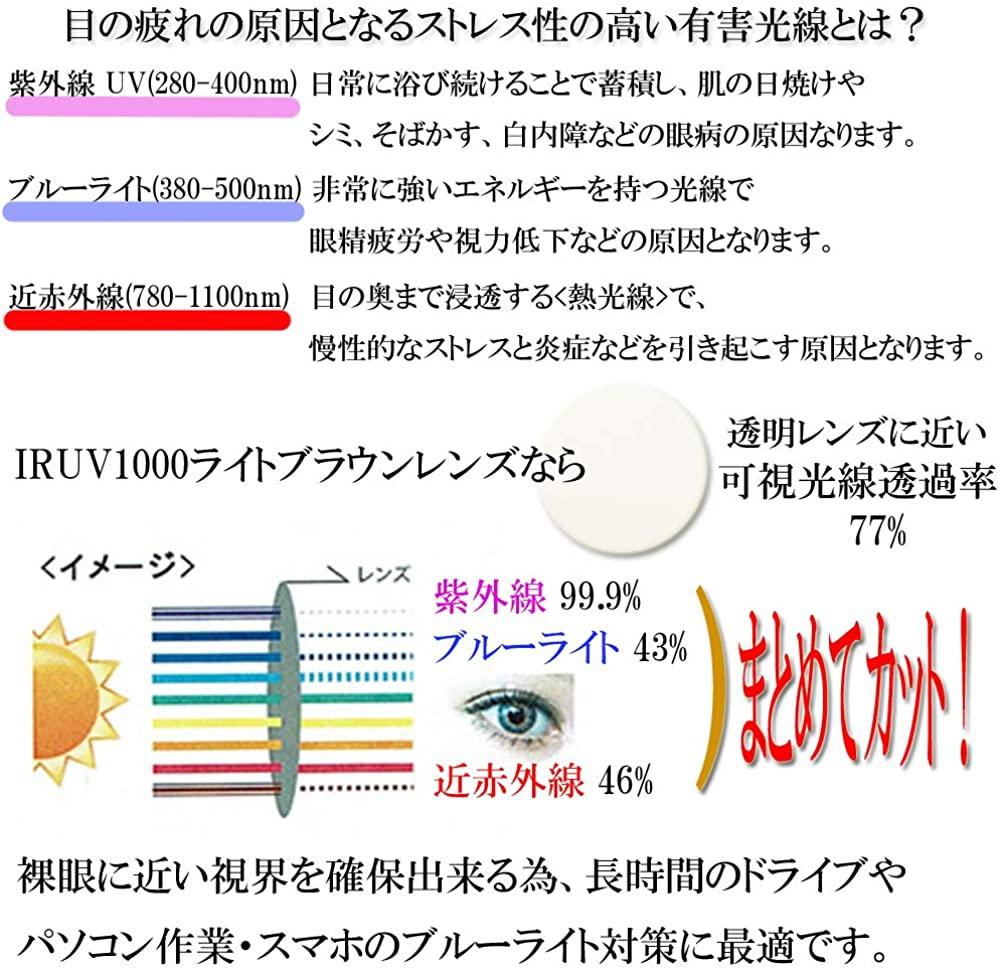 eight tokyo(エイトトウキョウ) 花粉 対策 カバー サングラス IRUV-KG-3の商品画像3