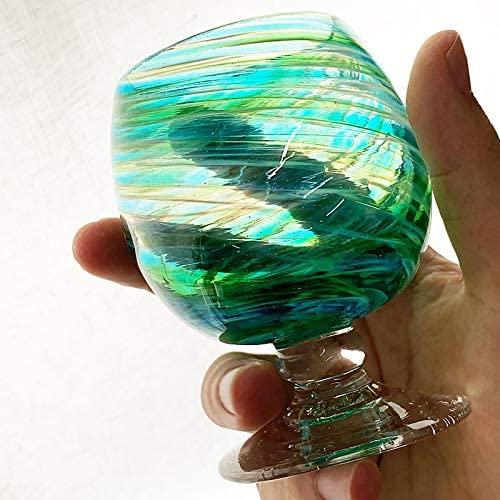 琉球ガラス(リュウキュウガラス)美ら海ブランデーグラスの商品画像4