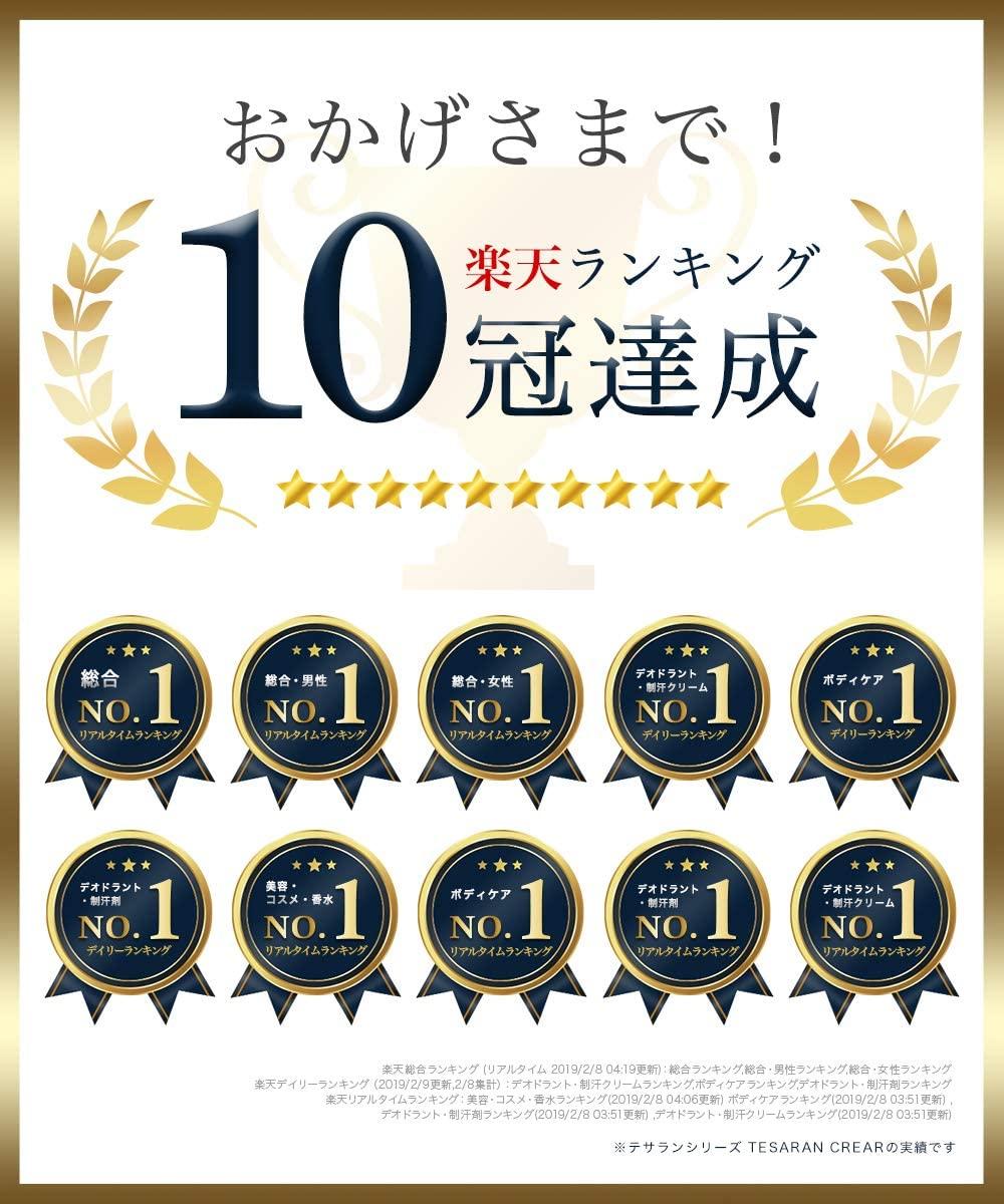 TESARAN CLEAR(テサランクリア) ワキガ専用デオドラントクリームの商品画像2