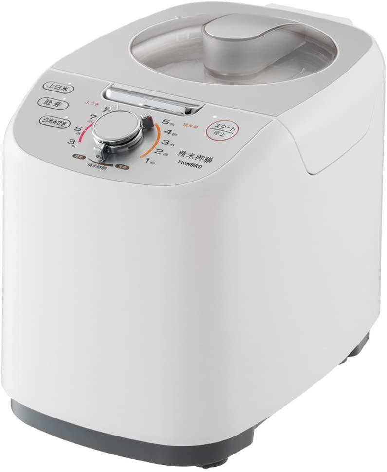 TWINBIRD(ツインバード)コンパクト精米器 精米御膳 MR-E751W ホワイトの商品画像