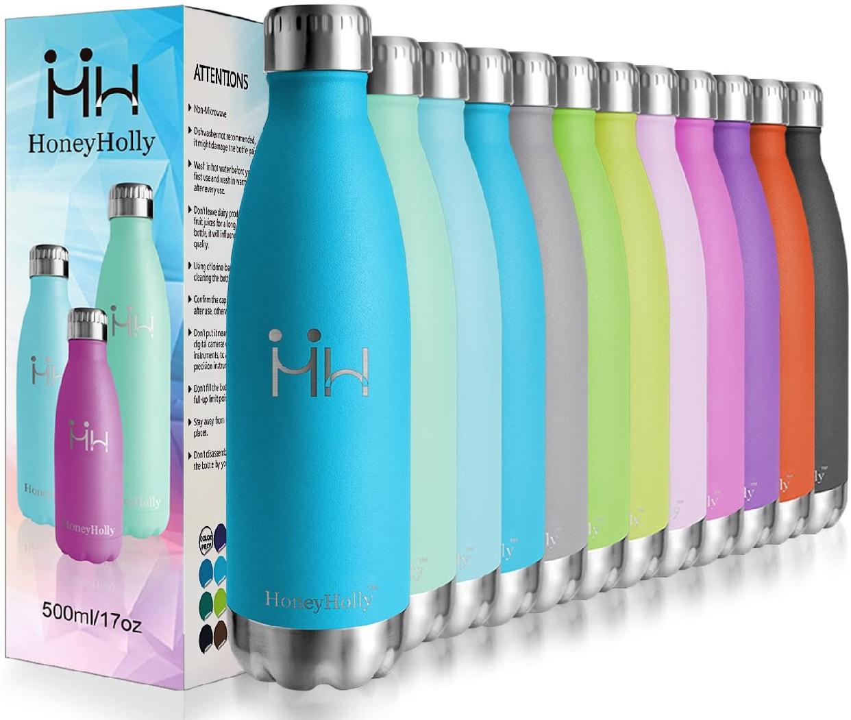 HoneyHolly(ハニーホリー) 真空断熱ボトル 350ml スカイブルーの商品画像