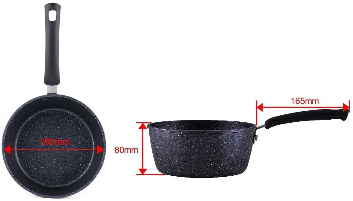 COOKSMARK(クックスマーク)片手鍋 18cm ブラック H-4236の商品画像2