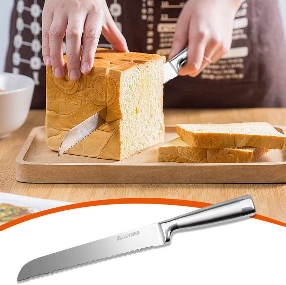 AUGYMER(オージマー) パン切り包丁 (全長/約32.5cm) シルバーの商品画像9