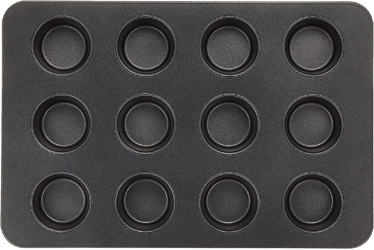 cotta(コッタ)オリジナルマフィン型(12個取) ブラック 085666の商品画像
