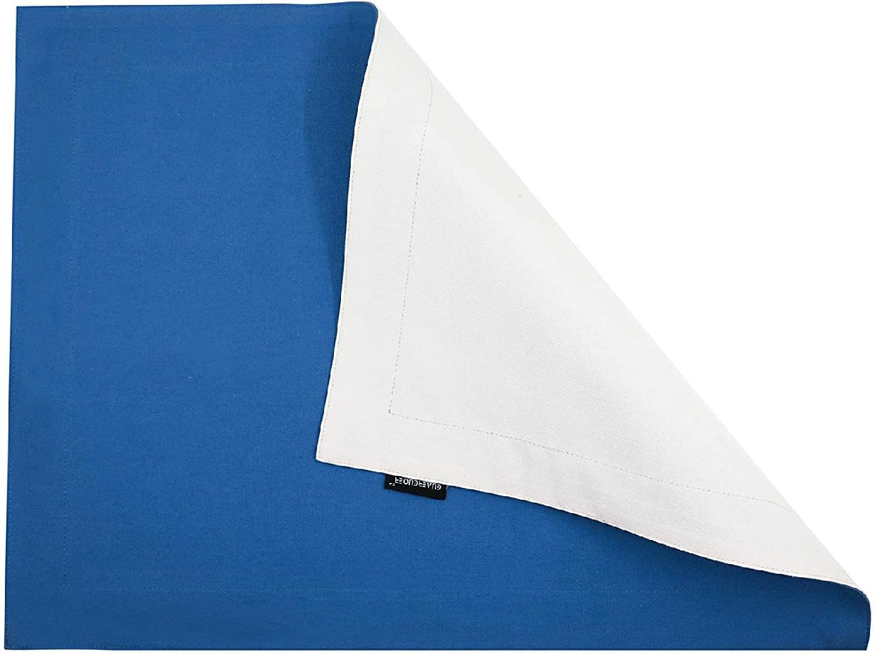 GUAERGUOER(ジーオーイーアールジーユーオーイアー)コットンプレースマット-4枚 B1アクアブルー+白)の商品画像5