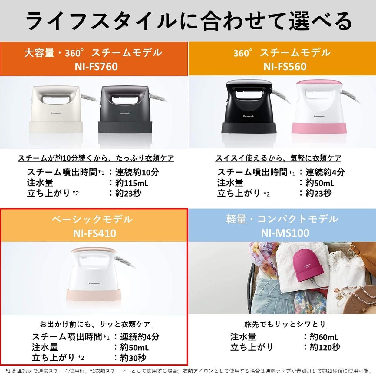 Panasonic(パナソニック) 衣類スチーマー NI-FS410の商品画像7