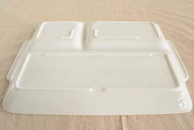 大和陶器(ヤマトトウキ)軽量うすかる 持ち手付き スクエアランチプレート 白の商品画像3