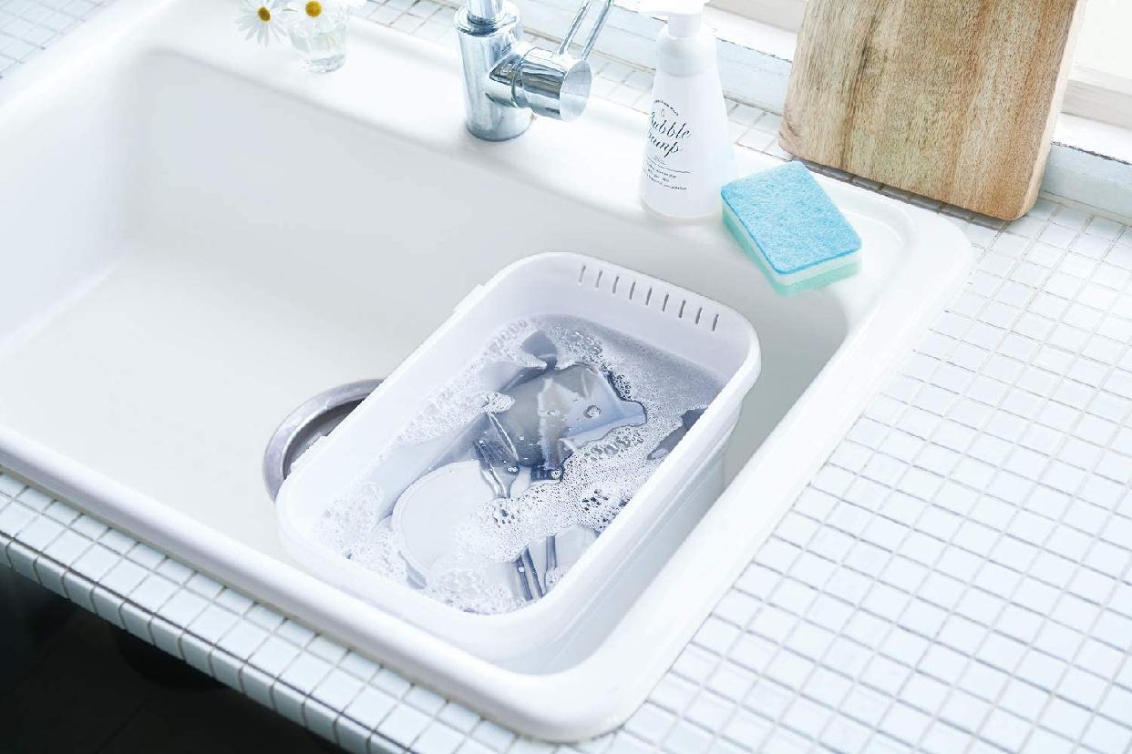伊勢藤 折りたたみ洗い桶 キッチンソフトタブ 6.6L I-590の商品画像4