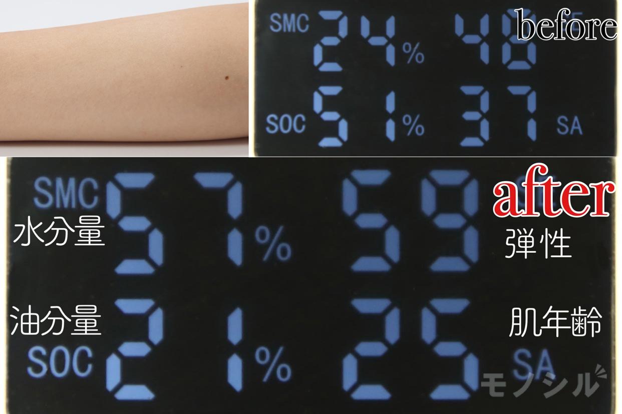 ELIXIR(エリクシール) ホワイト クリアローション T Ⅱの商品画像5 商品の保湿効果の高さ検証