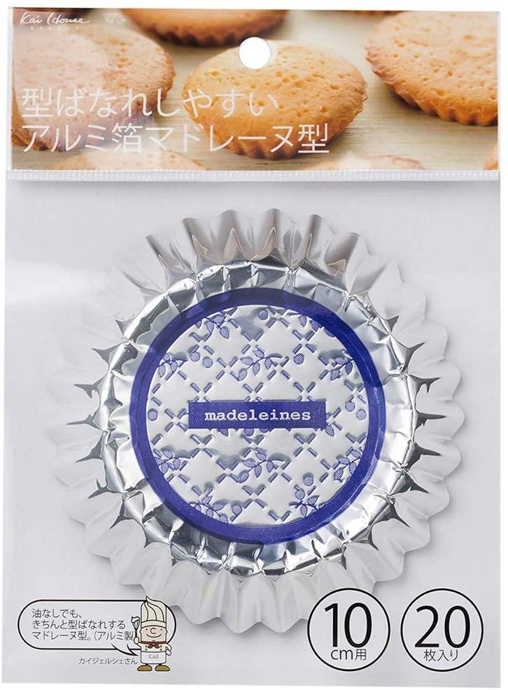 貝印(KAI) 型ばなれしやすいアルミ箔マドレーヌ型 10cm(20枚入り) DL6411の商品画像7