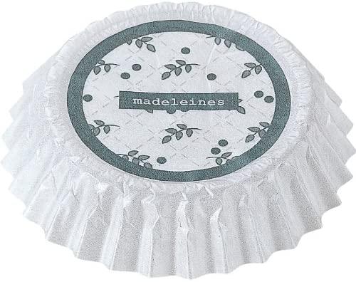 貝印(KAI) 型離れしやすい紙製マドレーヌ型 10cm(50枚入り) ホワイト DL6170の商品画像