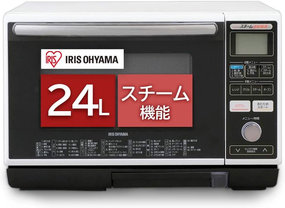 IRIS OHYAMA(アイリスオーヤマ) スチーム流水解凍オーブンレンジ 24L MS-Y2403の商品画像