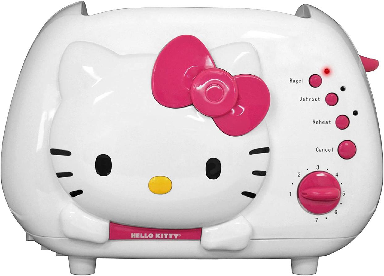 Hello Kitty(ハローキティ) ポップアップトースター 2-Slice Wide slot toaster  ホワイト KT5211の商品画像3