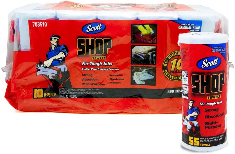 Scott(スコット) ショップタオル ブルーロール 55枚×10ロールの商品画像