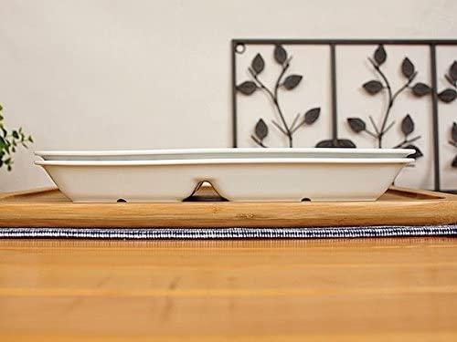 Flower&May(フラワー&メイ)北欧風リーフ 29cm 3ツ切り長角ランチプレートの商品画像4