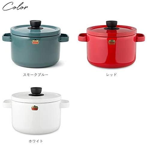 富士ホーロー(FUJIHORO) ソリッドシリーズ ディープキャセロール 22cm SD-22DWの商品画像3