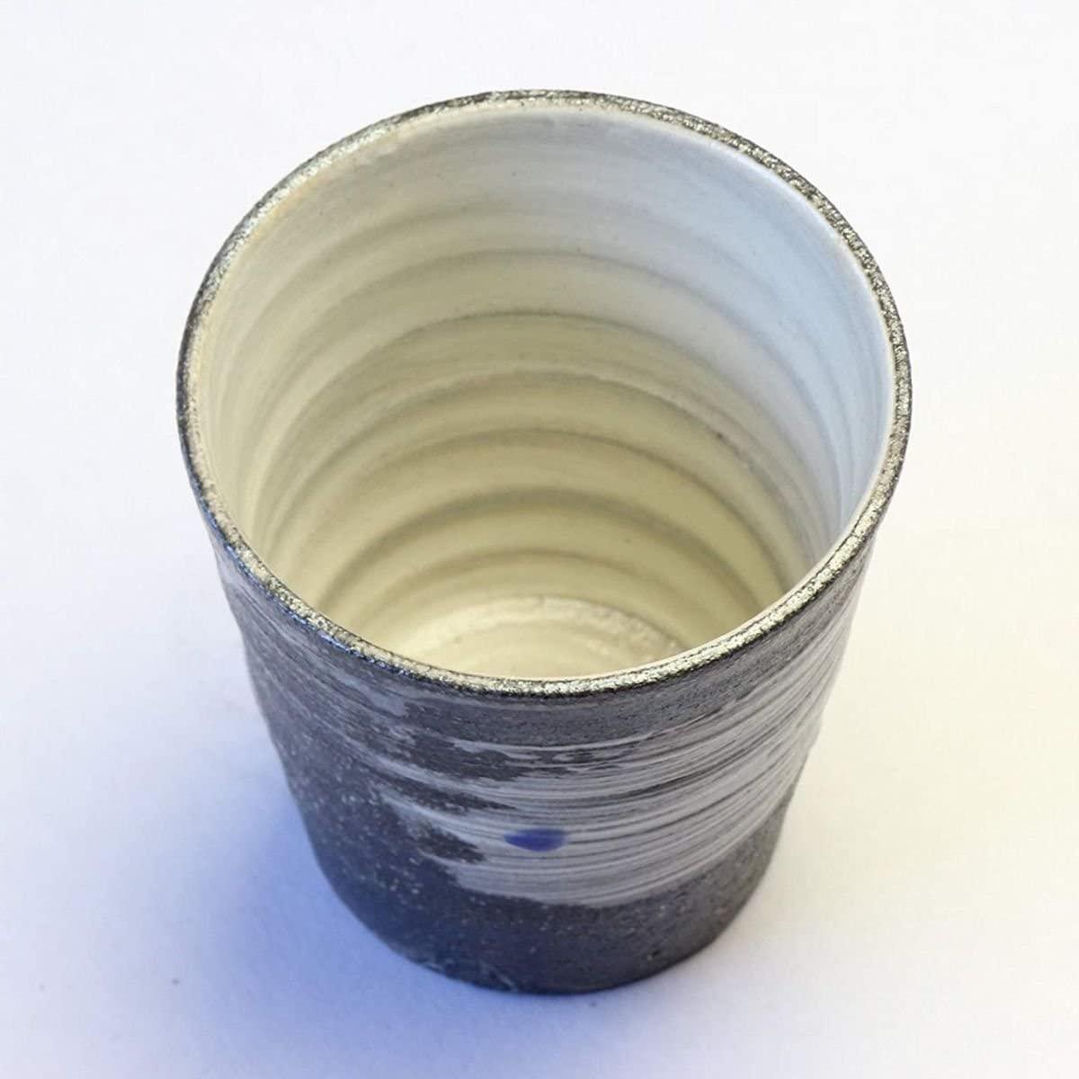 CtoC JAPAN Select(しーとぅーしーじゃぱんせれくと)信楽焼 焼酎グラス 天の川(青) W919-07の商品画像3