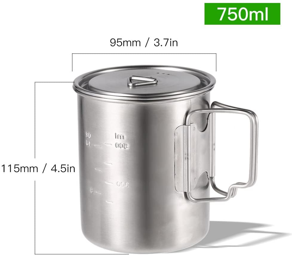 Lixada(リクサダ) チタンカップの商品画像4