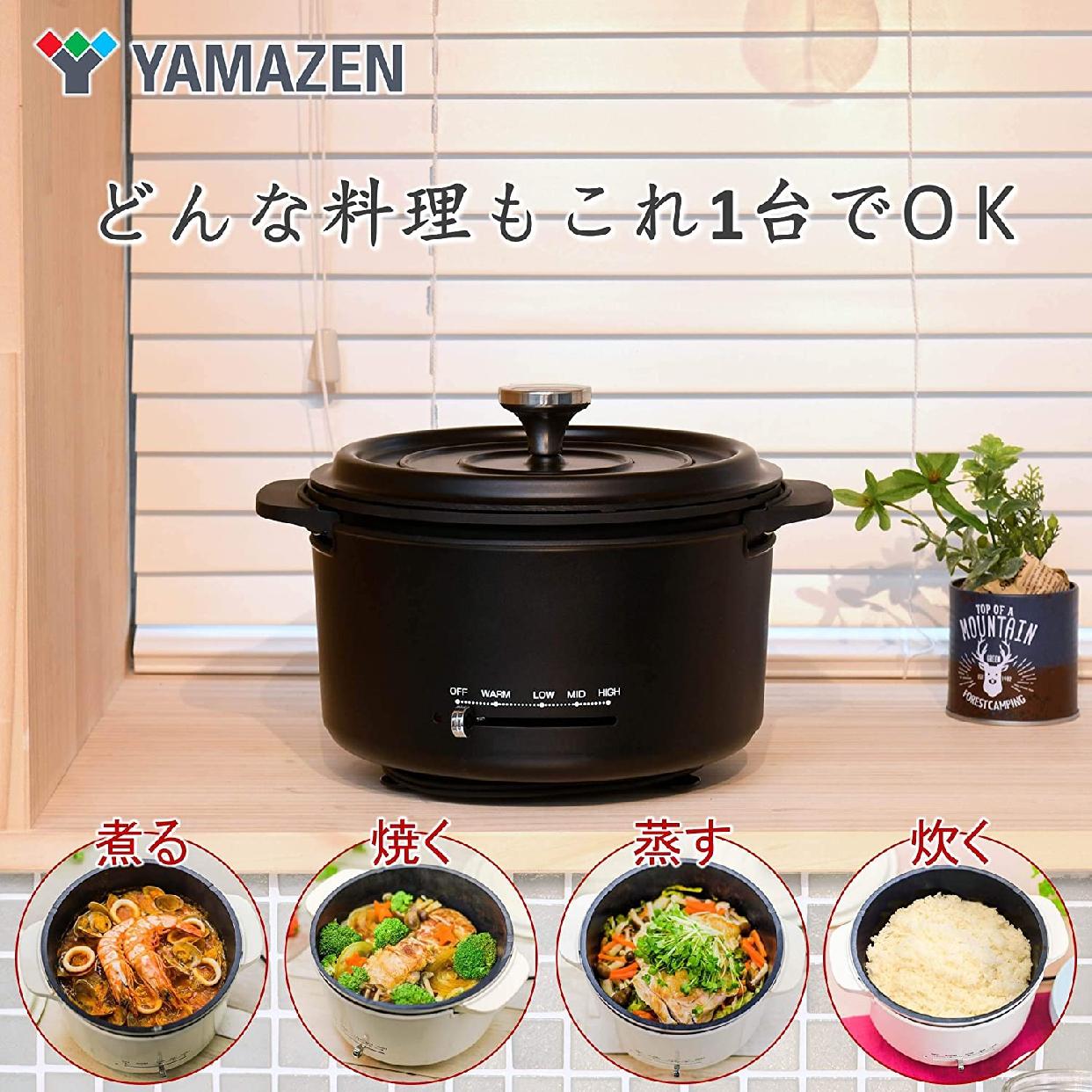 山善(YAMAZEN) 電気グリル鍋 EGD-D650(MB)の商品画像3