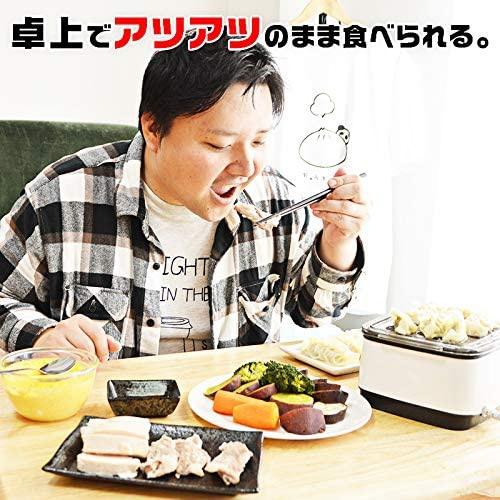 THANKO(サンコー) 卓上ひとりフードスチーマー FODSTM01の商品画像2