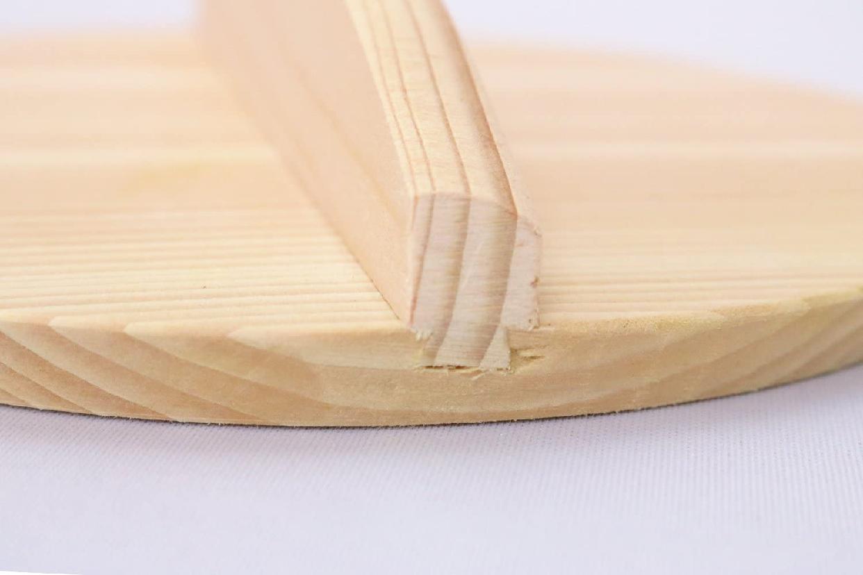 市原木工所(イチハラモッコウジョ)落し蓋 木製 樹婦人 ブラウン 15cmの商品画像6